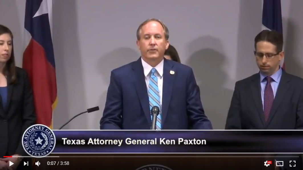 Attorney General Ken Paxton at Press Conference